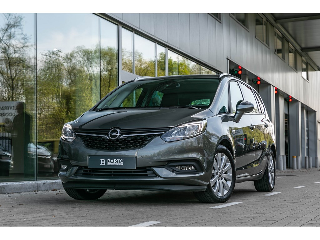 Tweedehands te koop: Opel Zafira Grijs - 14 Turbo Benz 120pk Innovation - 7zit - Camera - Navi - Auto Airco