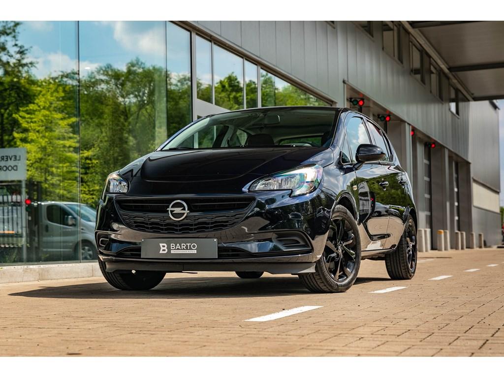 Tweedehands te koop: Opel Corsa Blauw - 10T Benz Black Edition Navigatie Sportzetels Alu velgen