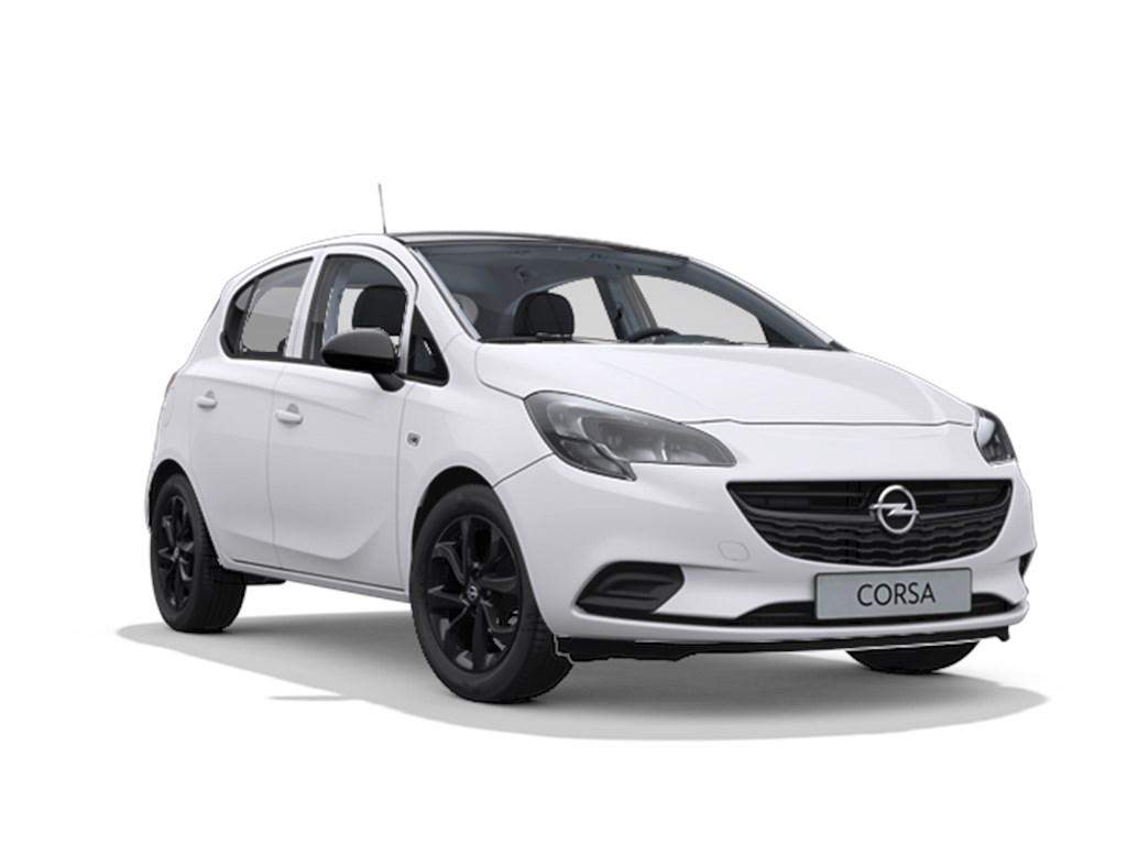 Tweedehands te koop: Opel Corsa Wit - 5-deurs Black Edition 14 Benz 90pk - Automaat 6 - Nieuw