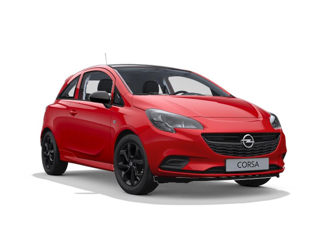 Tweedehands te koop: Opel Corsa Rood - 3-deurs Black Edition 12 Benz 70pk - Nieuw