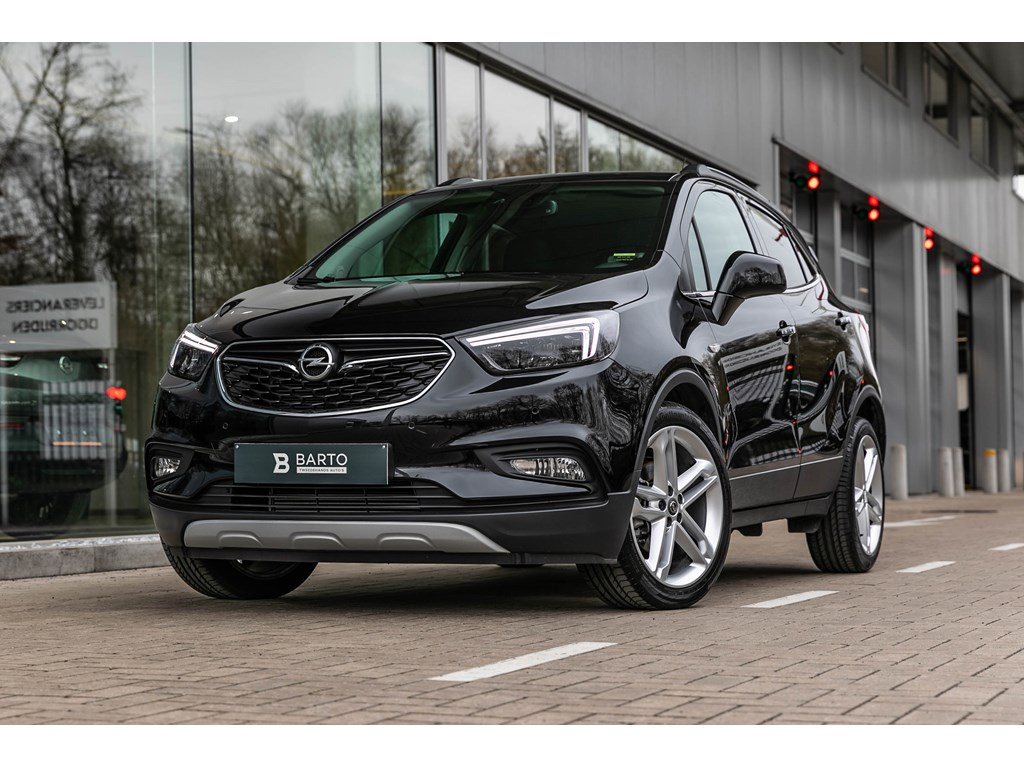 Tweedehands te koop: Opel Mokka X Zwart - Innovation 14 Turbo 140pk 19LederLED MatrixOpen dakCameraKeyless startenter