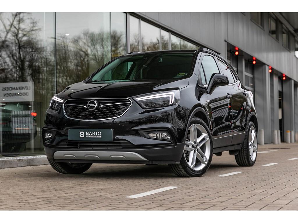 Opel-Mokka-Zwart-14B-140pk-19LederLEDMatrixOpen-dakCameraKeyless-startenter