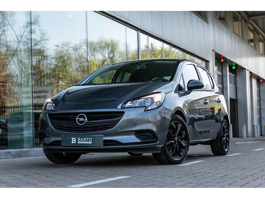 Opel-Corsa-Grijs-12-Benz-Black-Edition-Navi-Airco-Sportzetels