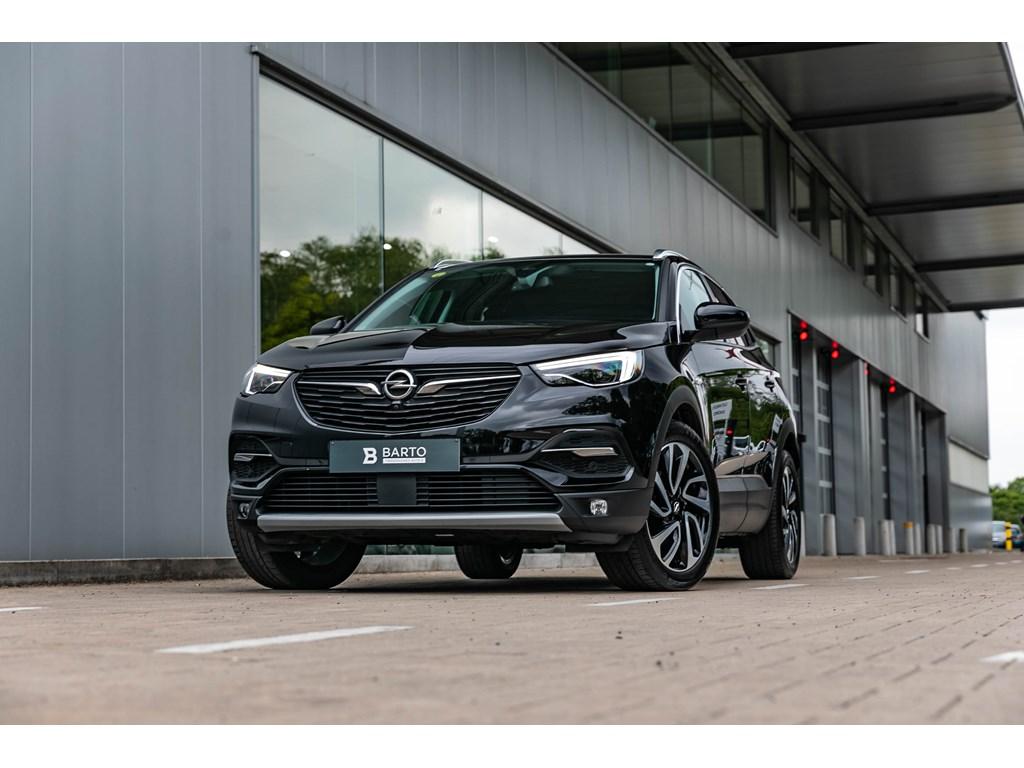 Tweedehands te koop: Opel Grandland X Zwart - 16dInnovationLed360Camera19 BiColorDodehoek