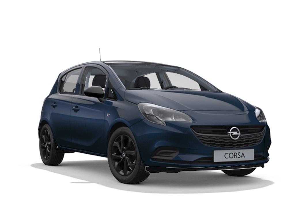 Tweedehands te koop: Opel Corsa Blauw - 5-deurs Black Edition 14 Benz 90pk - Automaat 6 - Nieuw