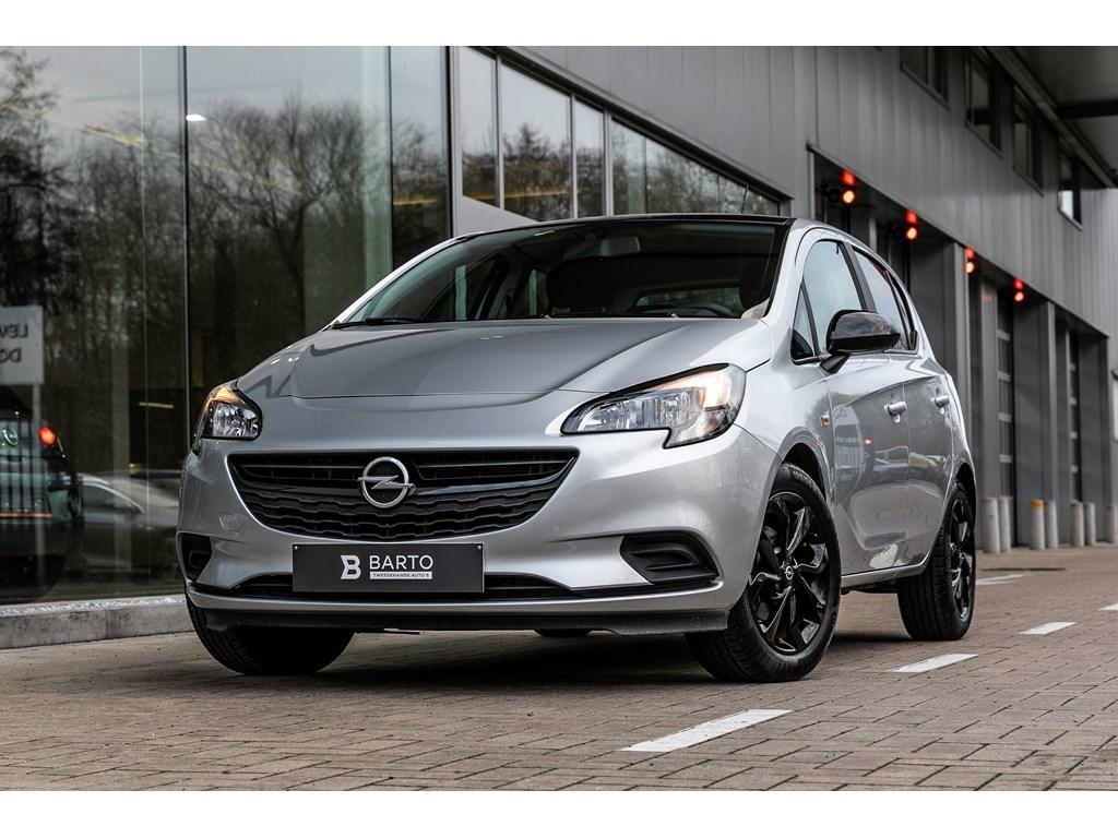 Tweedehands te koop: Opel Corsa Zilver - 14 Benz 90pk - Black Edition - Navi - Airco - Sportzetels