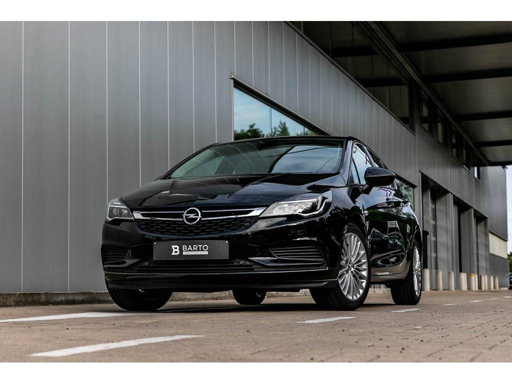 Opel-Astra-Zwart-5-Deurs-Edtion-14-Turbo-150pk-AUTOMAAT-Navigatie-Alu-velgen-Sensoren