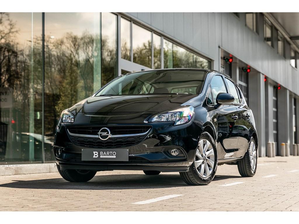 Tweedehands te koop: Opel Corsa Zwart - 10T BenzNavigatieAlu velgenAirco