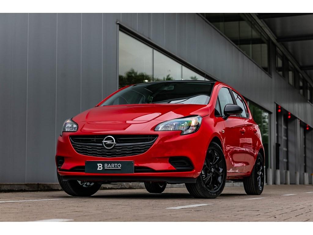 Tweedehands te koop: Opel Corsa Rood - 5-Deurs 10Turbo 90pk - Black Edit - Navi - Airco - Sportzetels