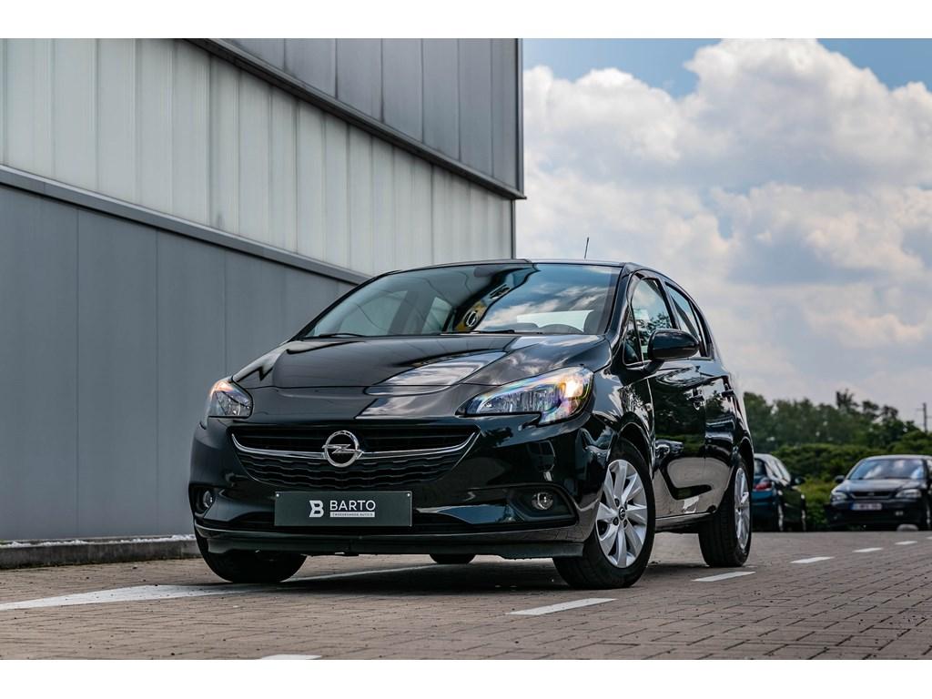 Opel-Corsa-Zwart-12-BenzNavigatieAlu-velgenAirco