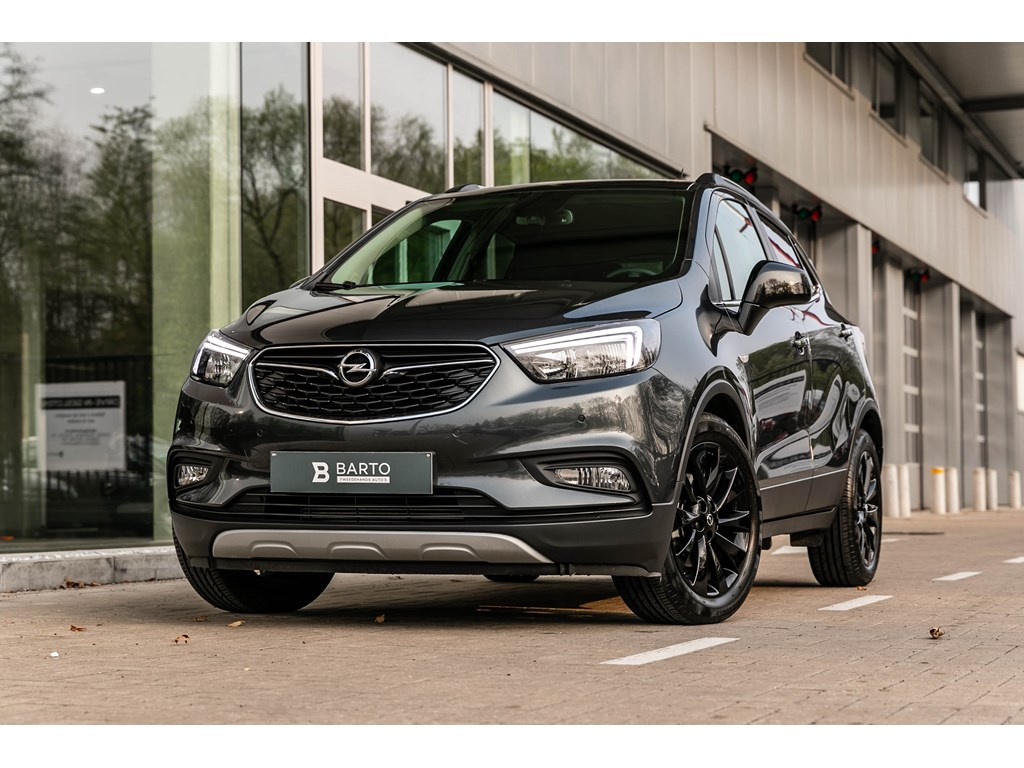 Tweedehands te koop: Opel Mokka Grijs - 14 Turbo 140pk - Black Edition - Half leder - Camera - Keyless -