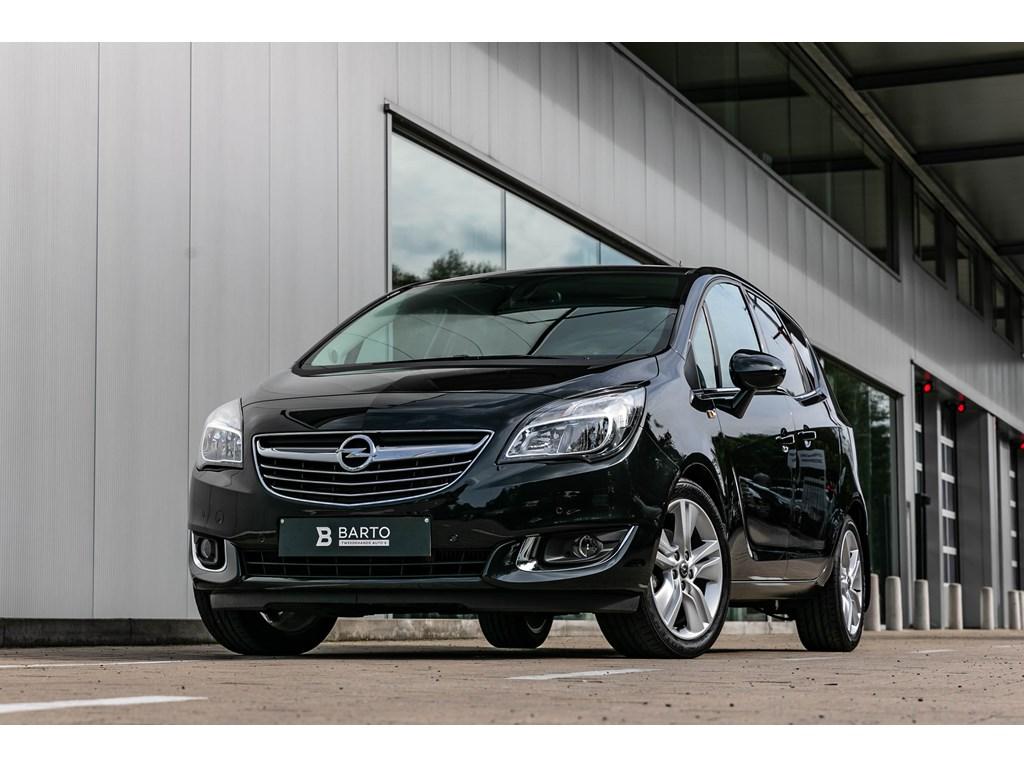 Tweedehands te koop: Opel Meriva Zwart - 14T AutomaatCameraParkeersensAuto Airco