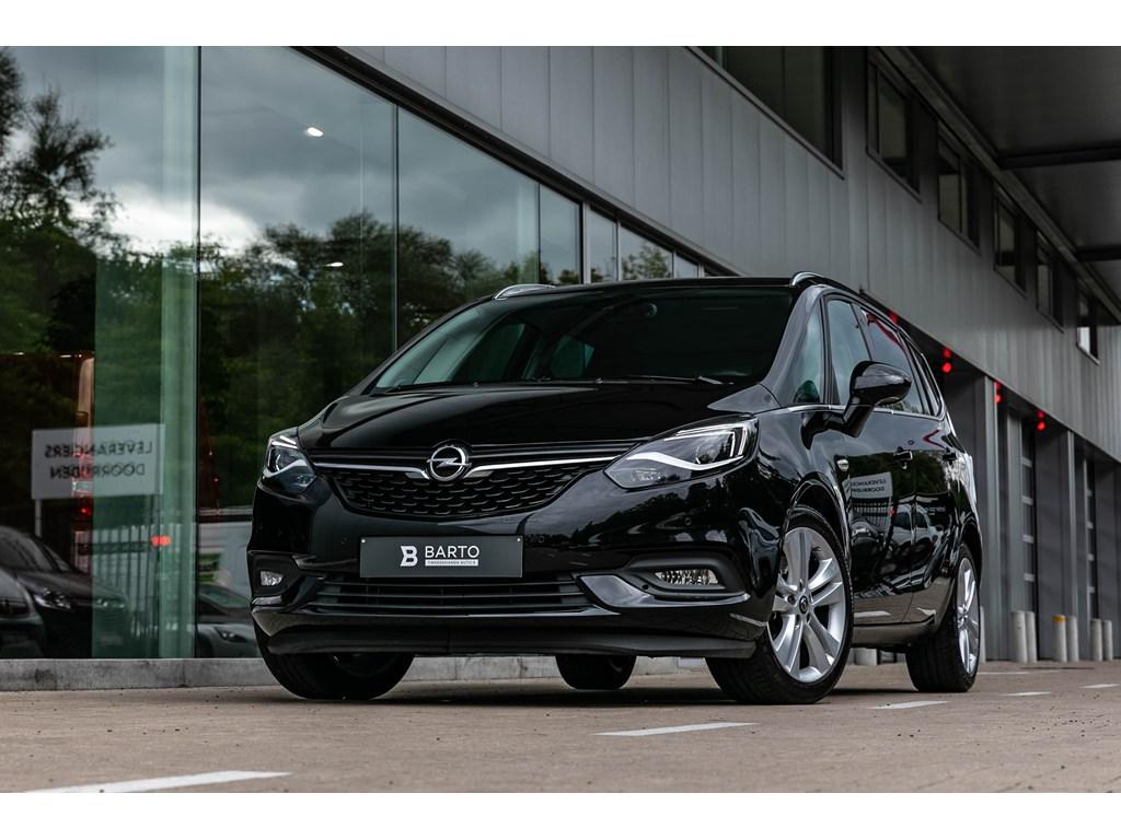 Tweedehands te koop: Opel Zafira Zwart - 16benzAutomaatLEDVerwarmde ZetelsDodehoekOfflaneCamera