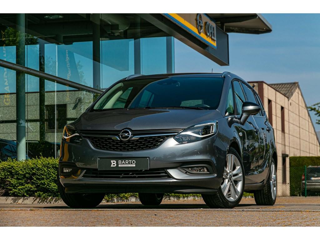 Opel-Zafira-Grijs-Innovation-16-Turbo-benz-AutomaatLEDVerwarmde-ZetelsDodehoekOfflaneCamera