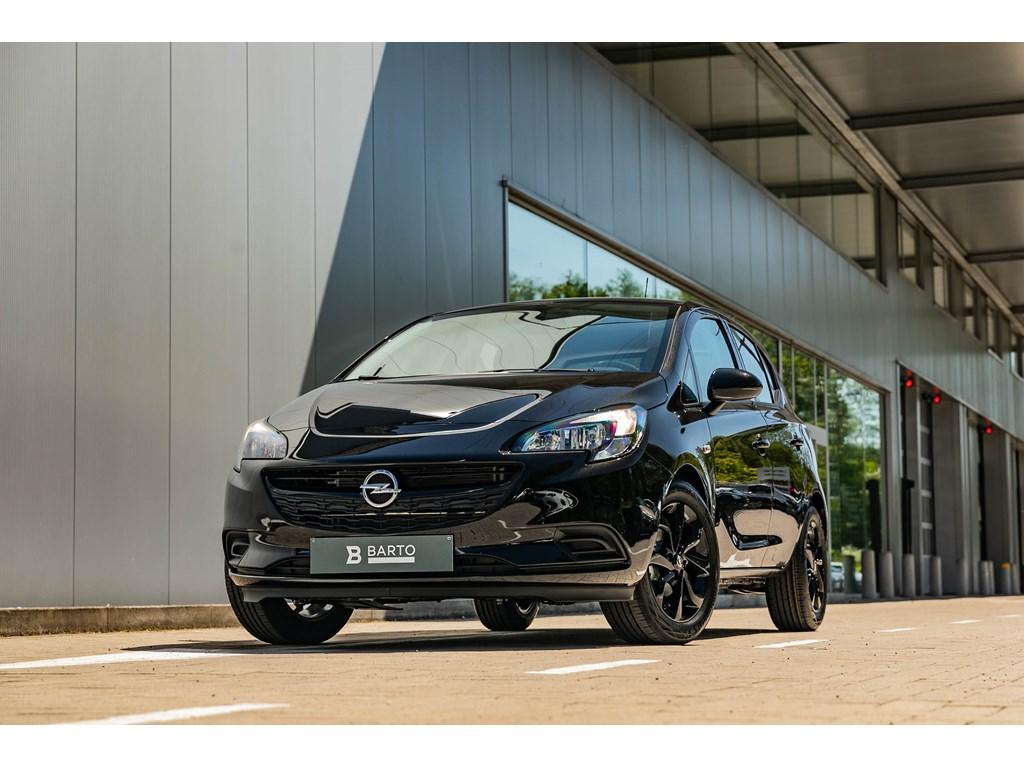 Tweedehands te koop: Opel Corsa Zwart - 5-Deurs 12 Benz 70pk - Black Edition Navigatie