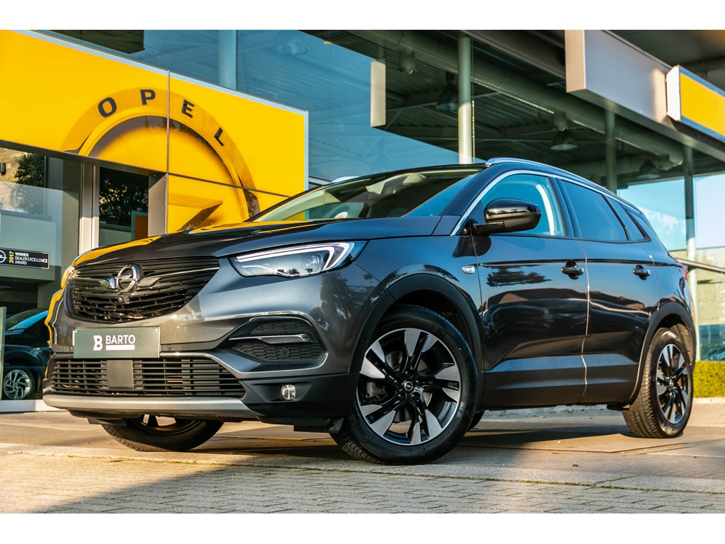 Tweedehands te koop: Opel Grandland X Grijs - 12T 130pkInnovationAUTOMAATLederLEDCamera -