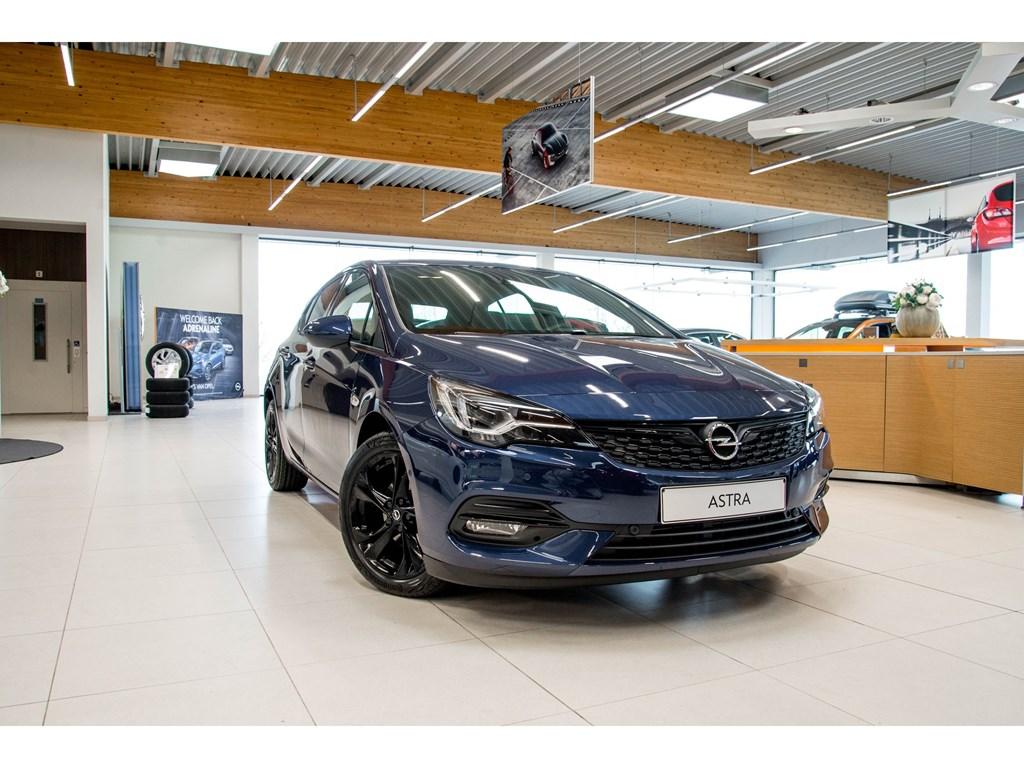Tweedehands te koop: Opel Astra Blauw - 5-Deurs 12 Turbo Benz 130pk SS Manueel 6 - Ultimate - Nieuw