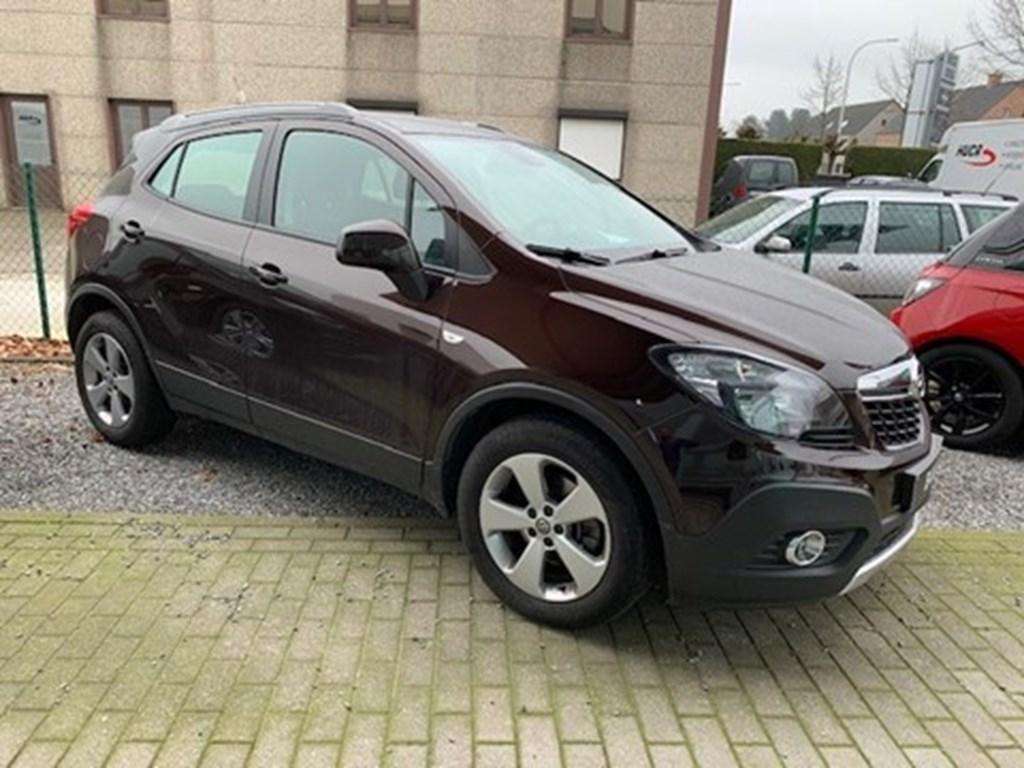 Tweedehands te koop: Opel Mokka Bruin - 16benzEnjoyAircoNaviTrekhaakParkeersens