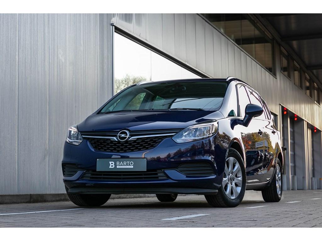 Tweedehands te koop: Opel Zafira Blauw - 14T benzEditionCameraParkeersensAirco5zit