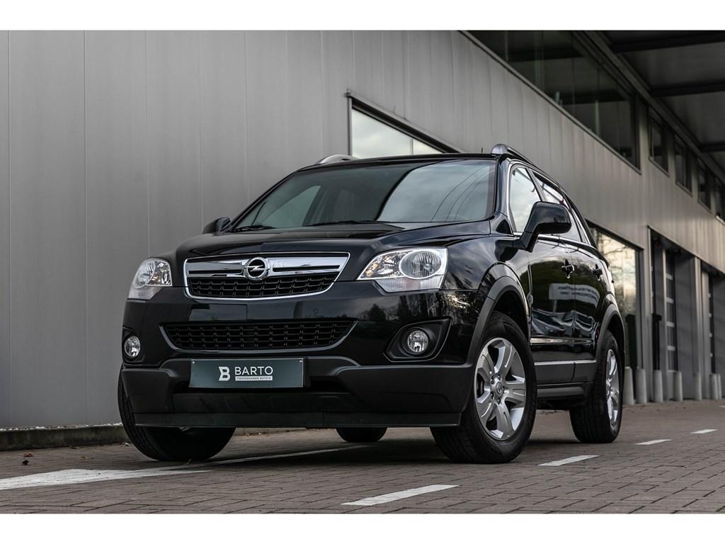 Tweedehands te koop: Opel Antara Zwart - 22 CDTILederNaviElektr ZetelsBluetoothTrekhaak 2000kg