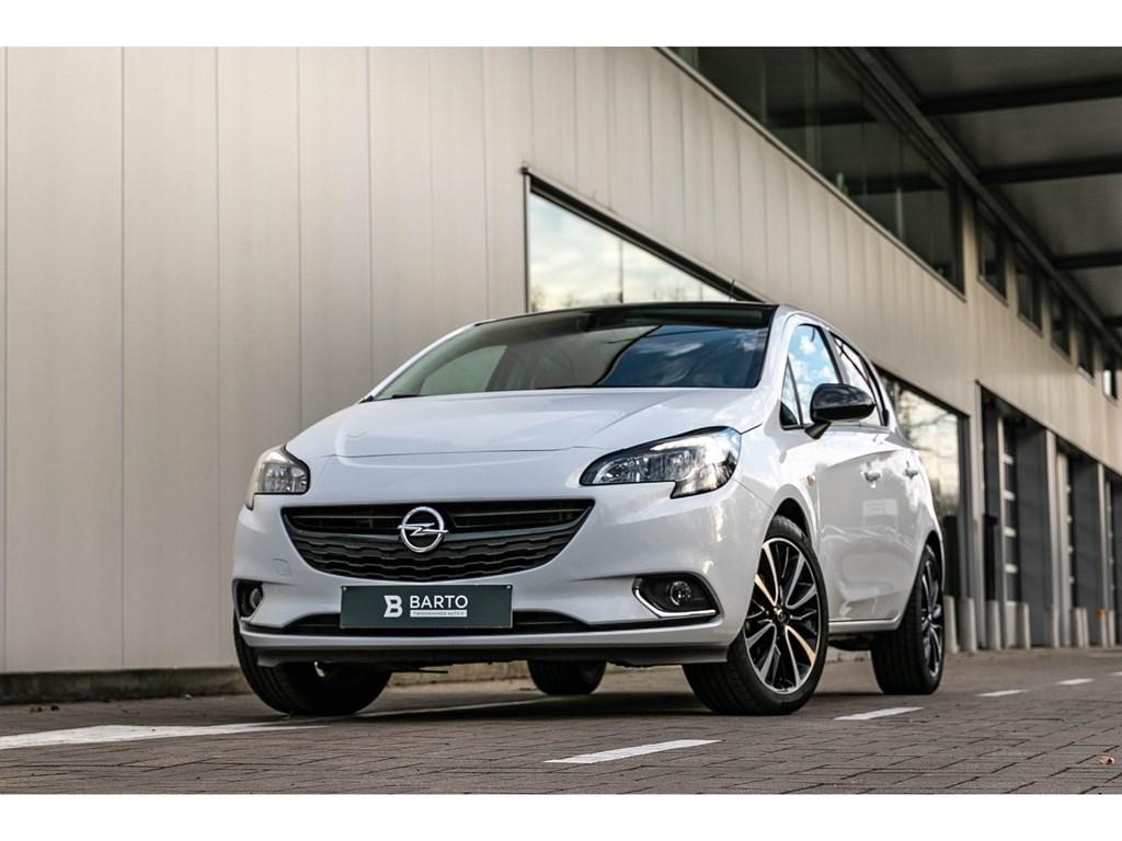 Opel-Corsa-Wit-14-Benz-Black-Ed-Camera-Parkeersens-Alu-velgen-