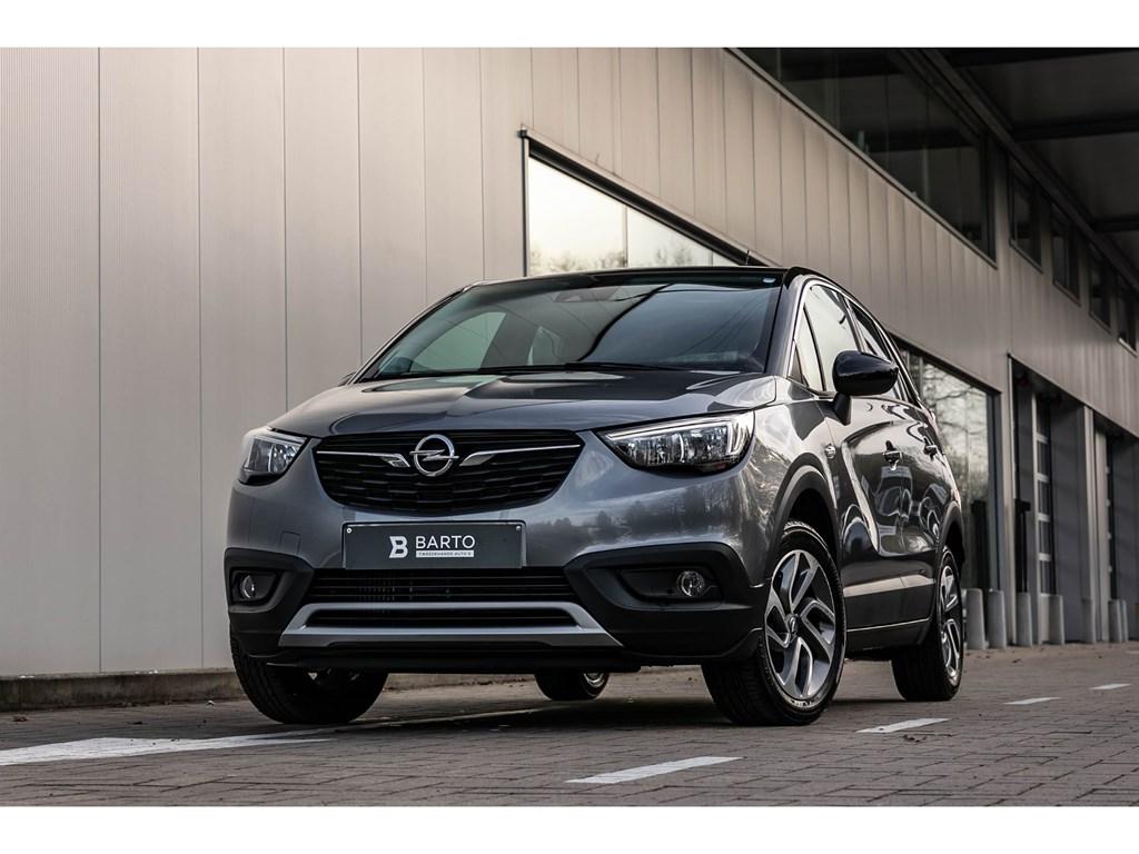 Tweedehands te koop: Opel Crossland X Grijs - 12T 110pkDesing LineNaviZwart daksensoren