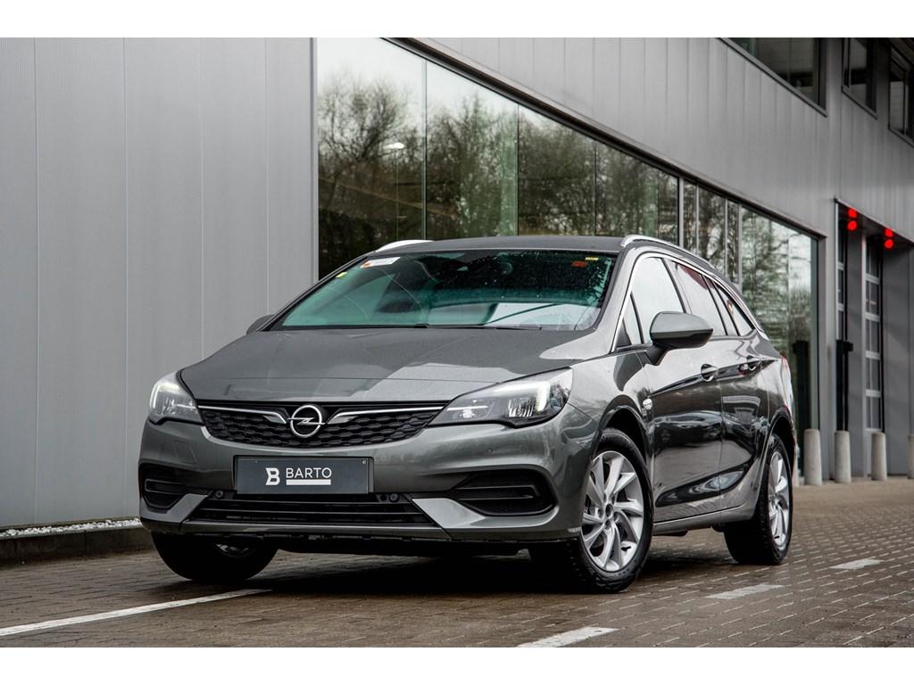 Tweedehands te koop: Opel Astra Grijs - Sports Tourer 12 Turbo Benz 110pk SS Manueel 6 - Elegance - Nieuw