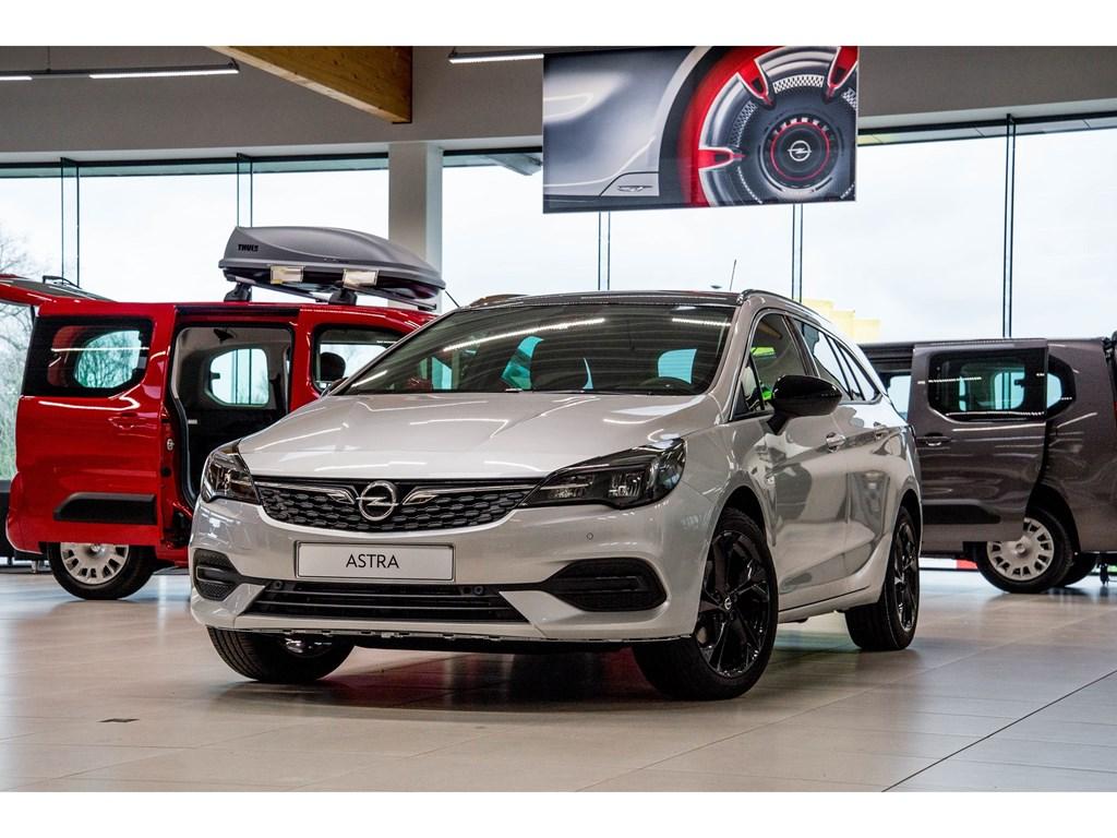 Tweedehands te koop: Opel Astra Zilver - Sports Tourer 12 Turbo Benz 110pk SS Manueel 6 - Elegance - Nieuw