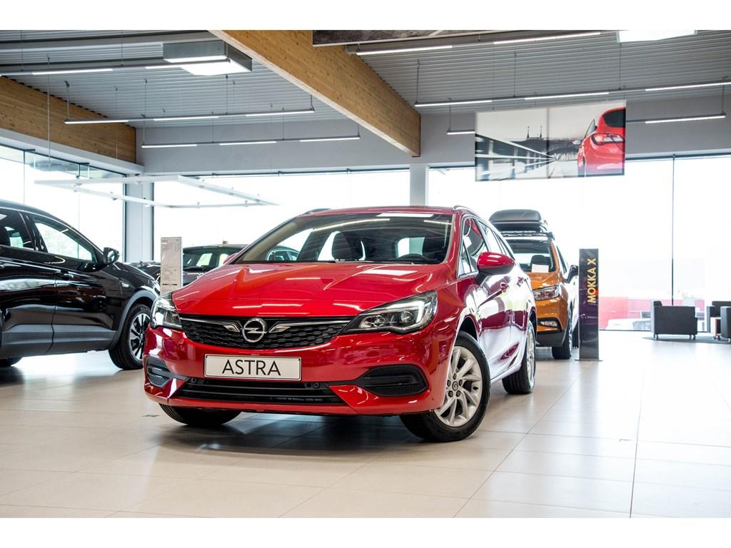 Tweedehands te koop: Opel Astra Rood - Sports Tourer 15 Turbo D Diesel 105pk SS Manueel 6 - Edition - Nieuw