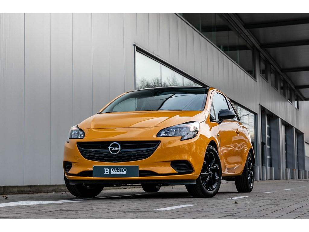 Tweedehands te koop: Opel Corsa Oranje - 14 Benz 90pk Black Edition Carbon Pack Alu velgen