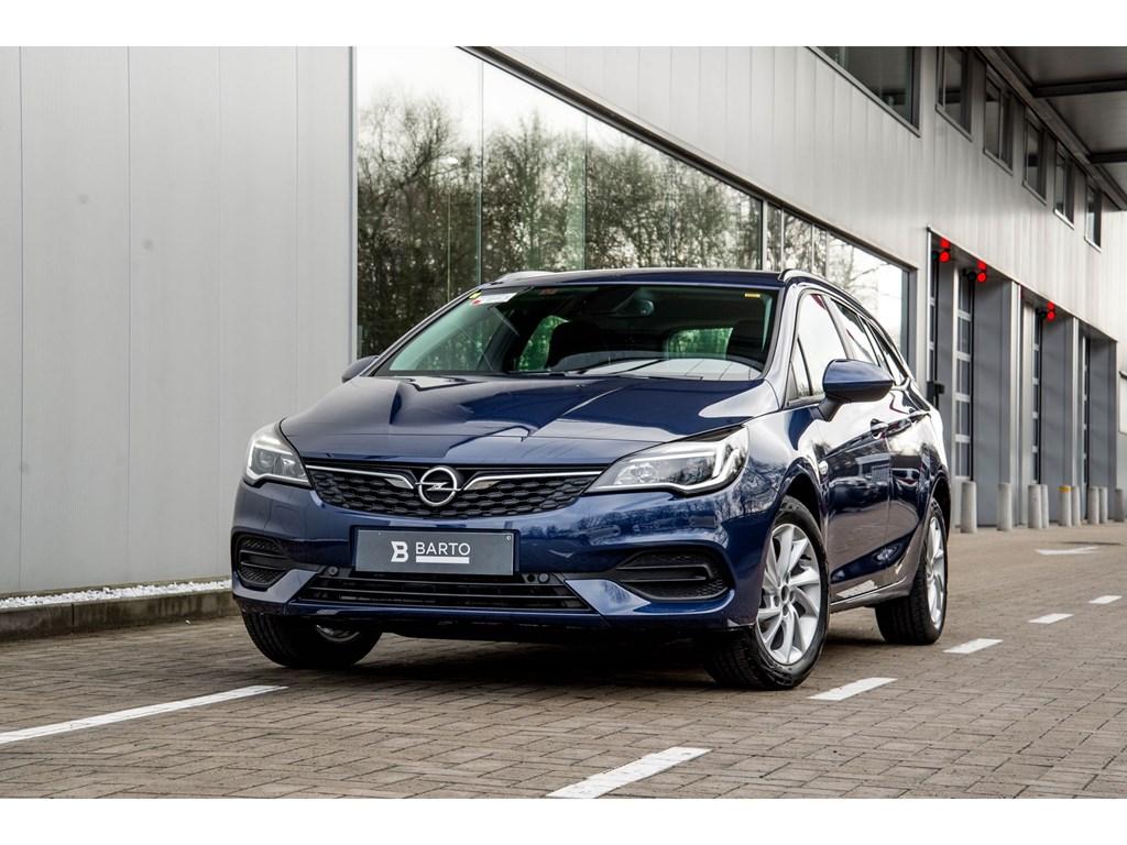 Tweedehands te koop: Opel Astra Blauw - Sports Tourer 12 Turbo 110pk SS Manueel 6 - Edition - Nieuw