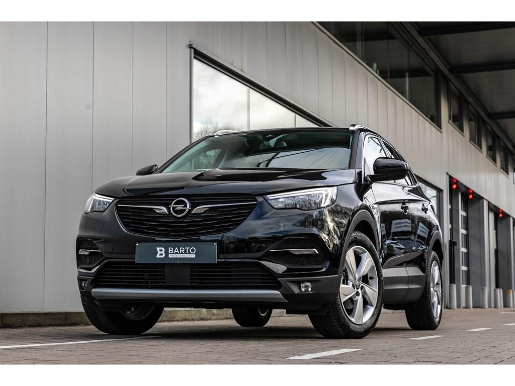 Tweedehands te koop: Opel Grandland X Zwart - 12Benz AutomaatVerwarmde ZetelsOfflaneErgo ZetelsWeinig Kms
