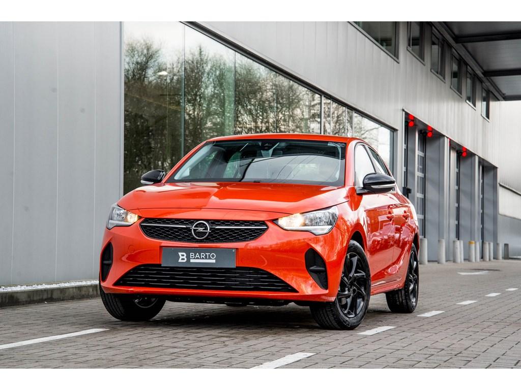Tweedehands te koop: Opel Corsa Oranje - 5-deurs Edition 12 Benz 75pk - Nieuw