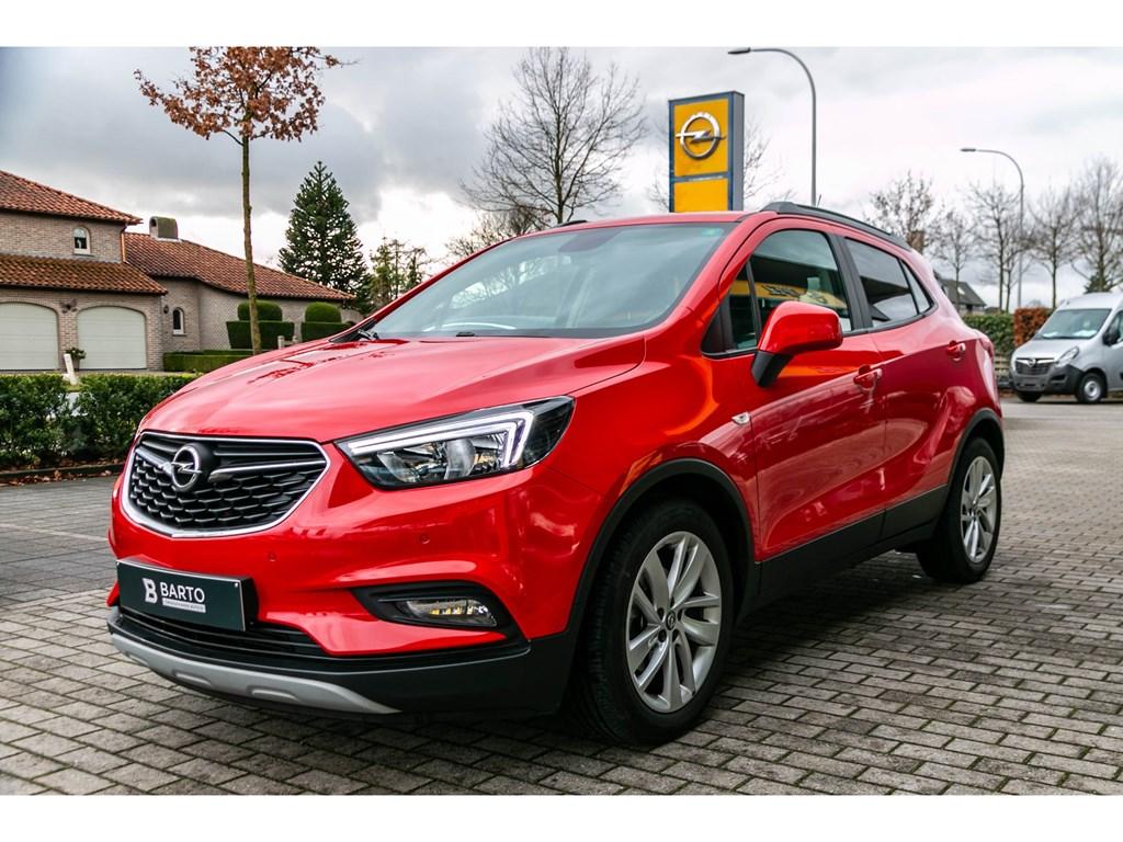 Tweedehands te koop: Opel Mokka X Rood - 14 Turbo 140pk Edition - NaviCameraParkeersens