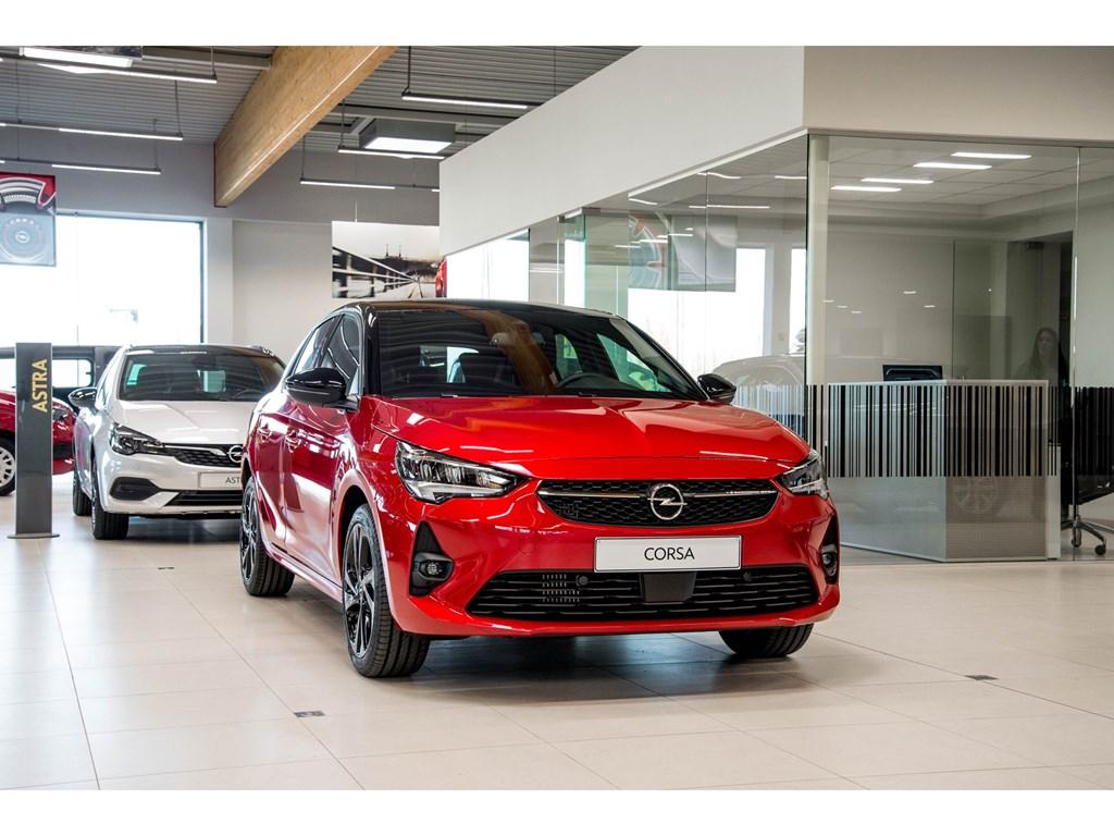 Tweedehands te koop: Opel Corsa Rood - 5-deurs GS Line 12 Benz Turbo Manueel 6 StartStop - 100pk - Nieuw
