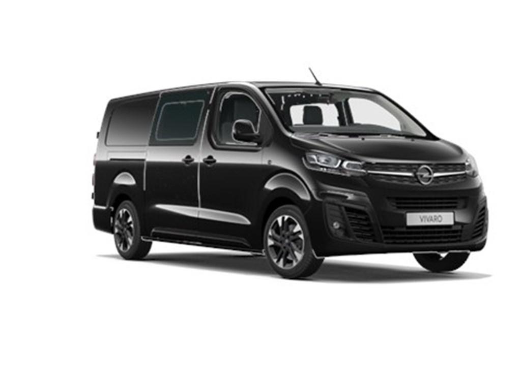 Tweedehands te koop: Opel Vivaro Zwart - Dubbele Cabine Innovation L3H1 Verhoogd Laadvermogen 20 Turbo D 150pk - Navi - 6pl - Nieuw