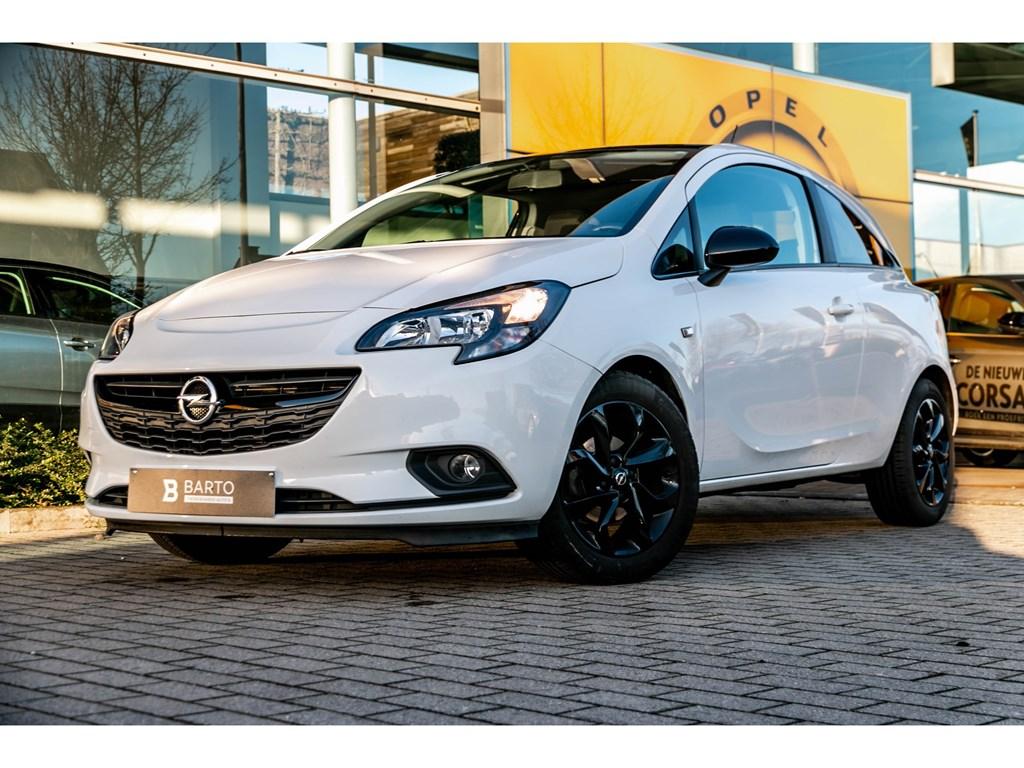 Tweedehands te koop: Opel Corsa Wit - 14benzBlack EditionParkeersensTouchscreenAirco