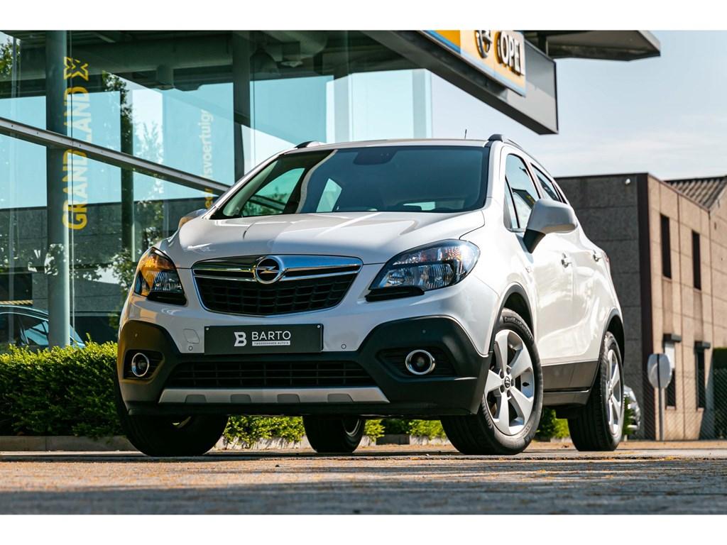 Tweedehands te koop: Opel Mokka Wit - 14 TURBONaviParkeersensAirco1jaar Volledige Garantie
