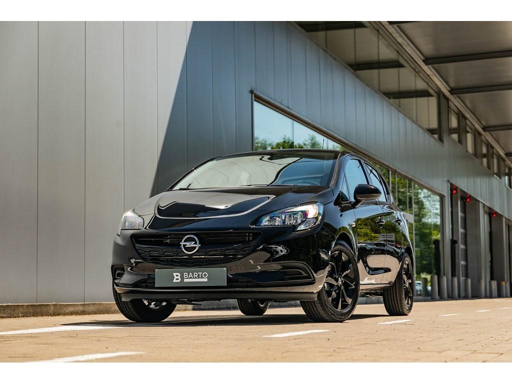 Tweedehands te koop: Opel Corsa Zwart - 14 B Black Edition Navigatie Airco