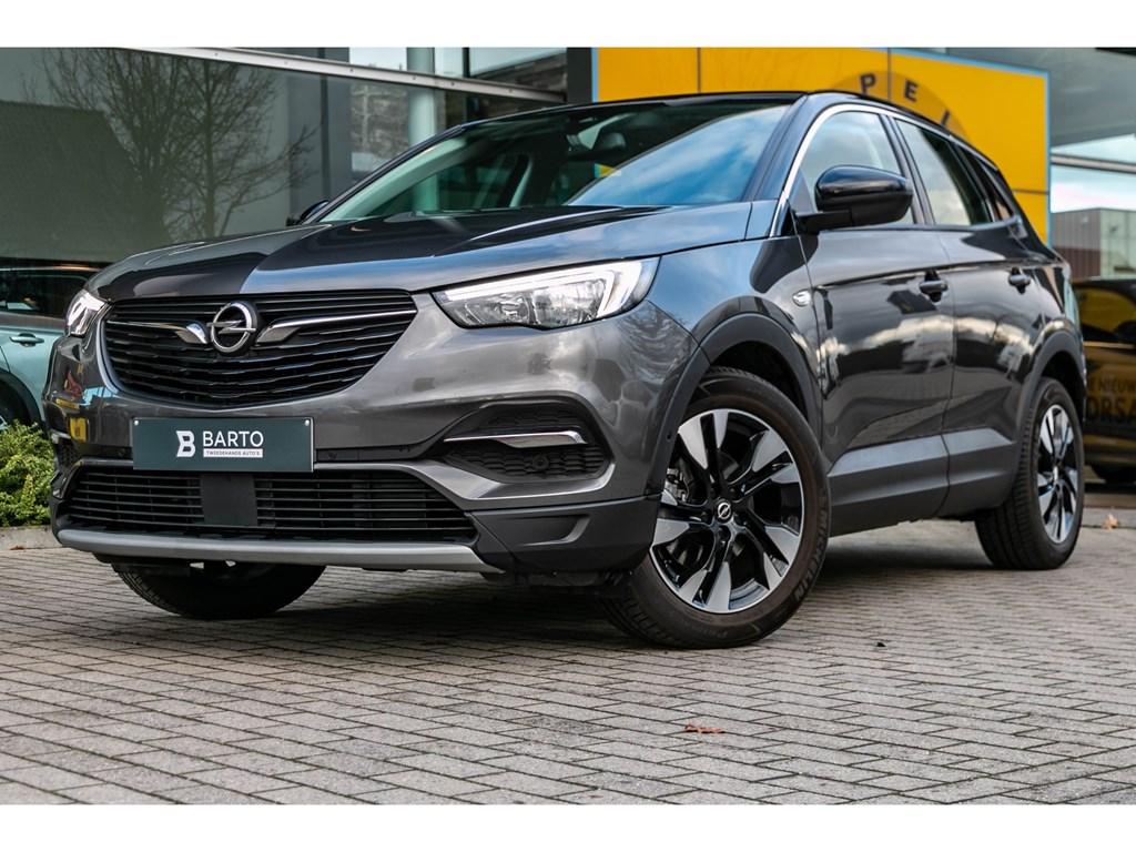 Tweedehands te koop: Opel Grandland X Grijs - 12 Turbo InnovationCameraOfflaneElektr Koffer