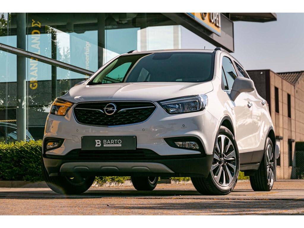 Tweedehands te koop: Opel Mokka X Wit - 14 Turbo 140 pk - Innovation AUTOMAATCameraKeylessParkeersens