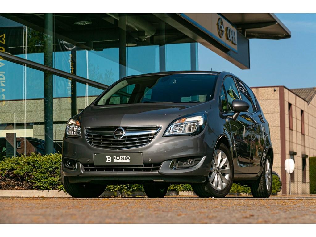 Opel-Meriva-Grijs-14-TurboNaviCameraParkeersensAuto-Airco