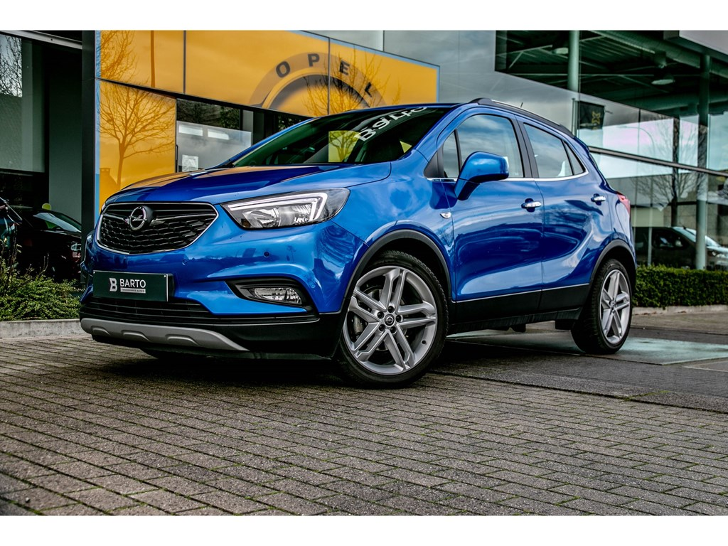 Tweedehands te koop: Opel Mokka X Blauw - 14 Turbo 140pk Benz AUTOMAAAT Innovation Leder Navi Camera