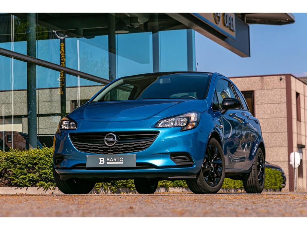 Tweedehands te koop: Opel Corsa Blauw - 12 BenzBlack EditionNaviAirco