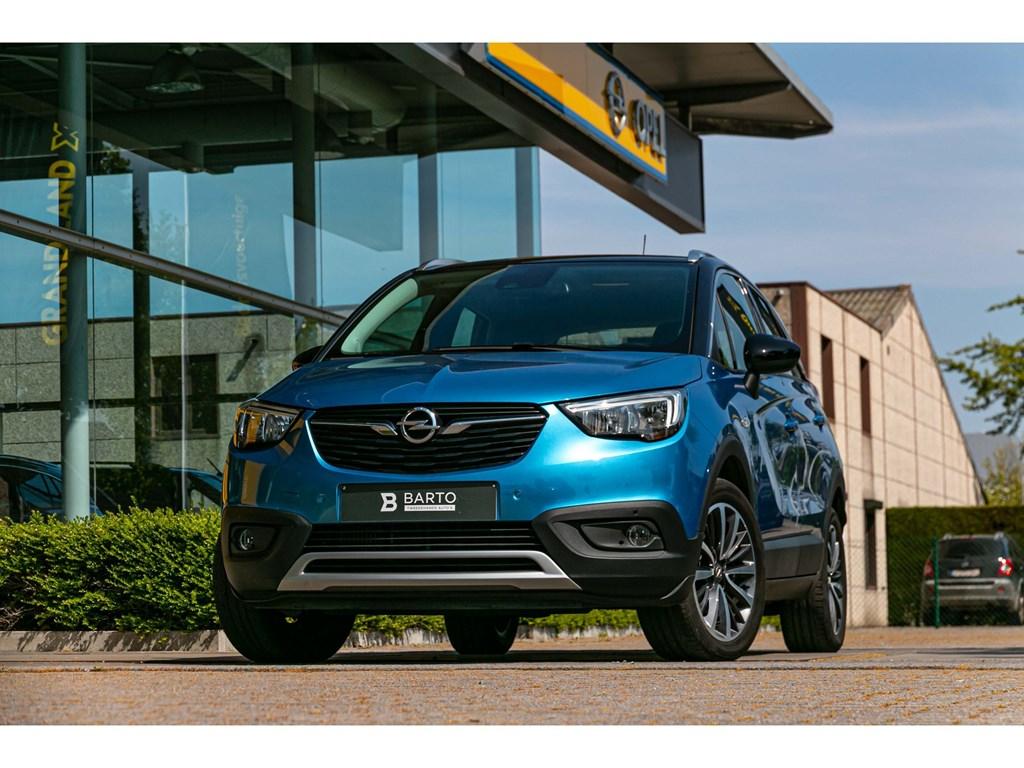 Tweedehands te koop: Opel Crossland X Blauw - 12benzInnovationAircoNaviHeadupdisplayParkeersens