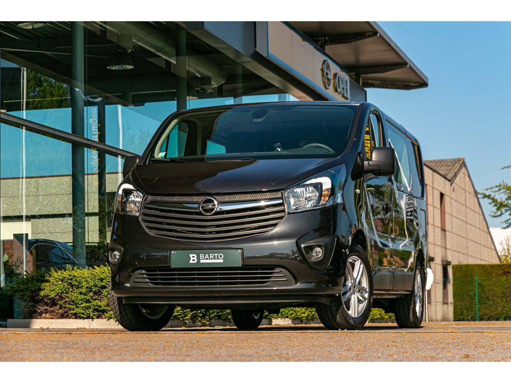 Tweedehands te koop: Opel Vivaro Zwart - 16 CDTi BiTurbo 145pkDubbel CabineCameraNaviAirco