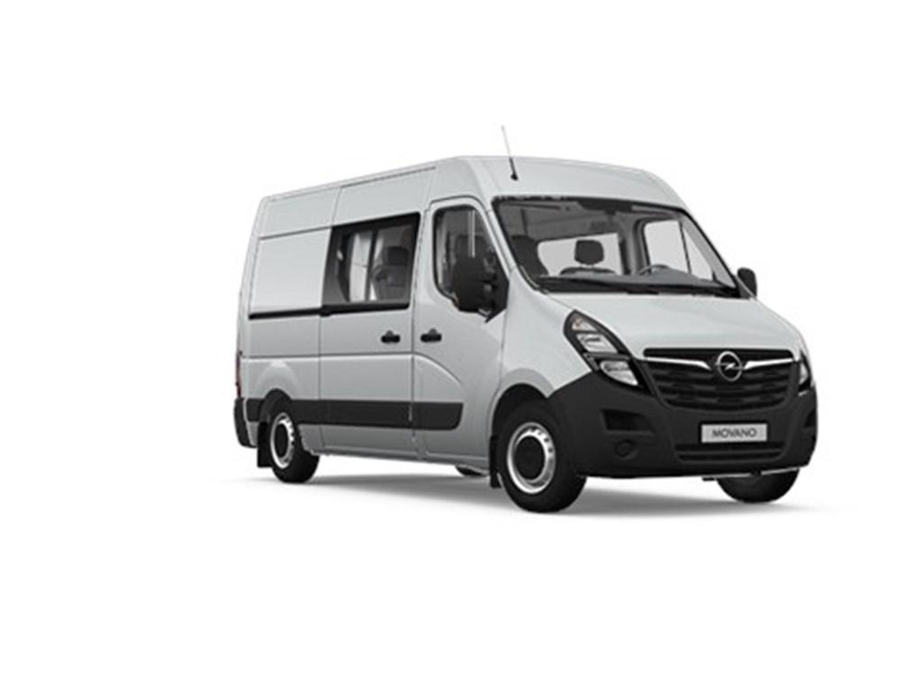 Tweedehands te koop: Opel Movano Zilver - Dubbele Cabine 4-zits bank L2H2 - 23 Turbo D 135pk 99kw FWD 35MTM - Nieuw