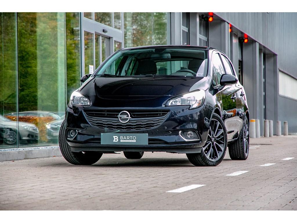 Tweedehands te koop: Opel Corsa Blauw - 14 Benz 90pk Black Edition Camera Parkeersens Alu velgen
