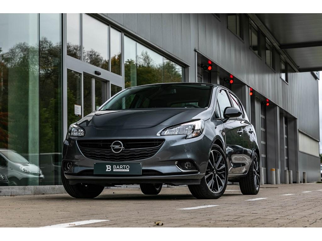 Opel-Corsa-Grijs-Automaat-14-Benz-Black-Ed-Camera-Parkeersens-Alu-velgen-