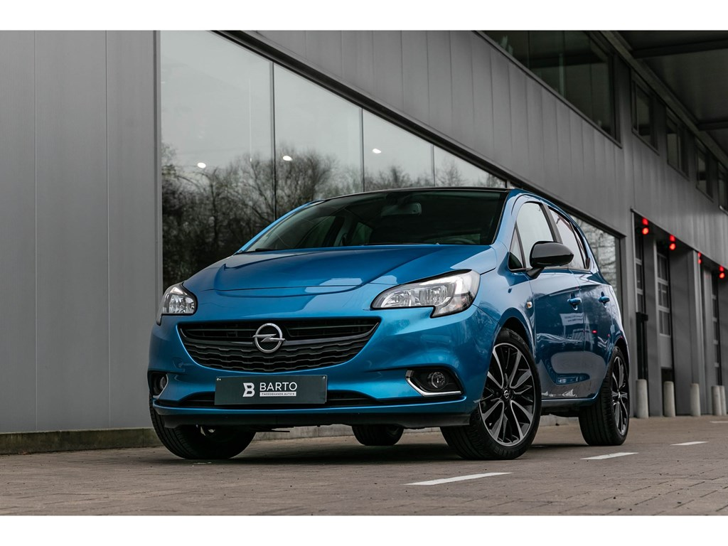 Opel-Corsa-Blauw-14-Benz-Black-Ed-Camera-Parkeersens-Alu-velgen-